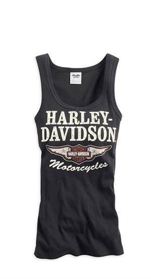Maglia canotta top t-shirt donna harley davidson