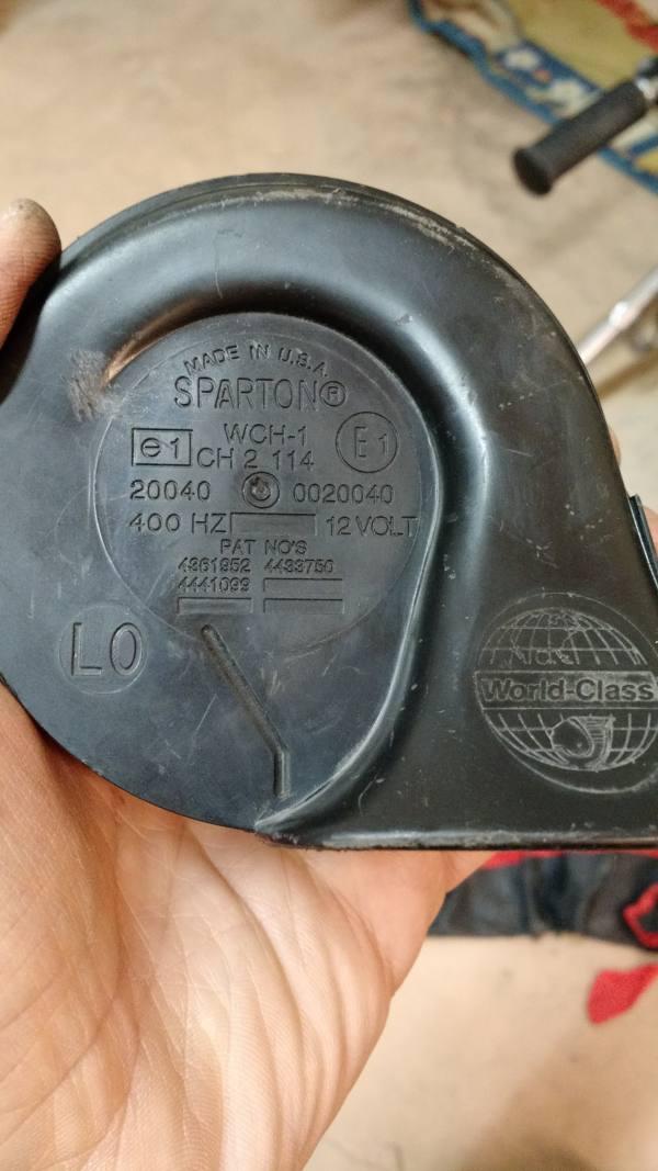 Clacson/Tromba  originale Harley SPARTON, Anni 90