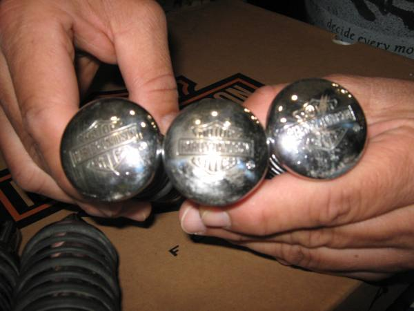 Pedalini cromati per harley-Davidson
