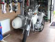 Sidecar su Aprilia Moto' 650 omologato 3 posti