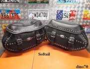 032 € 299 Harley Borse in pelle originali x...