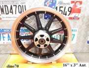 """008 € 199 Harley cerchio ant. da 16"""" a 9 razze..."""