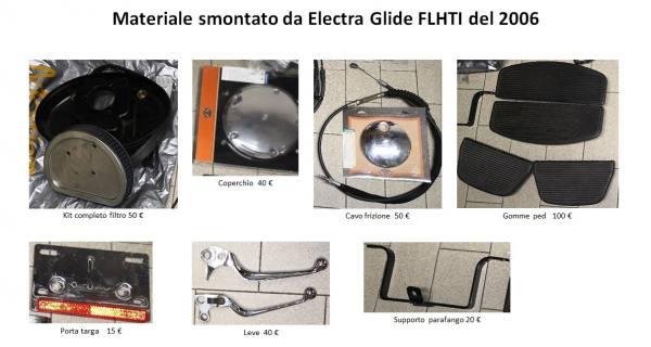 Materiale vario HARLEY DAVIDSON Electra Glide...